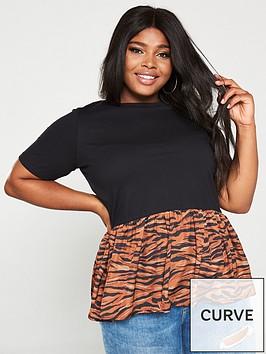 v-by-very-curve-printed-hem-t-shirt-animal