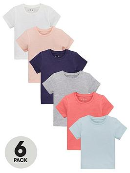 v-by-very-girls-6-pack-plain-short-sleeve-t-shirts-multi