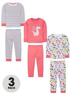 mini-v-by-very-girls-3-pack-dino-long-sleeve-pyjamas-multi