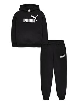 Puma Puma Essentials Logo Hooded Sweat Suit - Black Picture