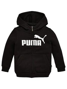 Puma Puma Essentials Girls Zip Front Hoodie -  Black Picture