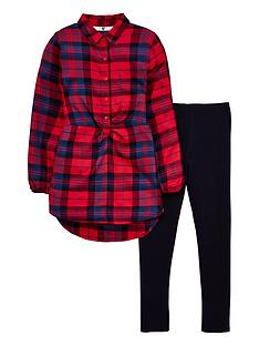 v-by-very-girls-twist-front-check-shirt-and-legging-outfit-multi