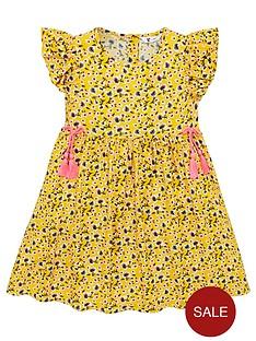 v-by-very-girls-floral-tassel-detail-dress-ochre