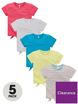 v-by-very-girls-5-pack-tie-front-t-shirts-multi
