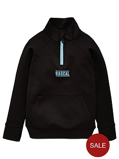 rascal-azul-half-zip-track-top-black