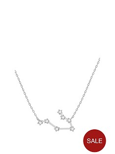 the-love-silver-collection-sterling-silver-cubic-zirconia-personalised-constellation-starsign-necklace