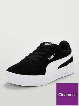 puma-carina-childrens-trainers-blackwhite