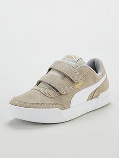 puma-caracal-sd-v-childrens-trainers-greywhitegold