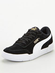 puma-caracal-sd-junior-trainers-blackwhitegold