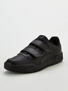 puma-caracal-v-childrens-trainers-blackgrey