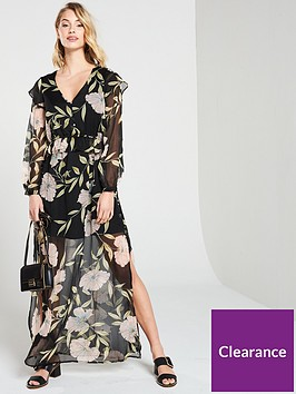 river-island-river-island-floral-frill-maxi-dress--black