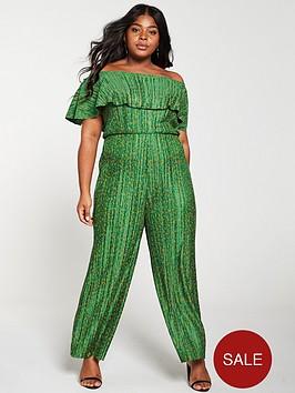 girls-on-film-curve-ditsy-floral-plisse-wide-leg-bardot-jumpsuit-greennbsp
