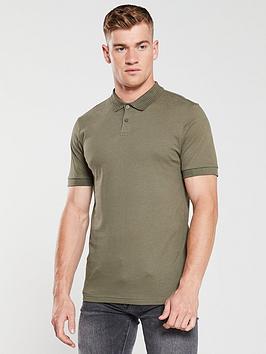 v-by-very-collar-detail-jersey-polo-shirt-khaki