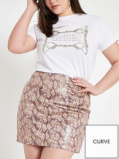 ri-plus-pu-snake-print-skirt-snake