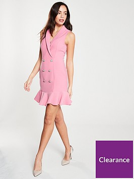 river-island-river-island-button-detail-frill-hem-tux-dress--pink