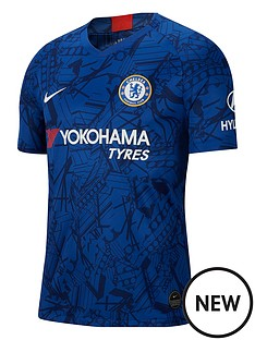 8ffb615bb85 Nike Chelsea 19 20 Home Short Sleeved Stadium Jersey - Blue