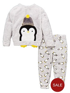 v-by-very-penguin-fleece-christmas-pyjamas-grey