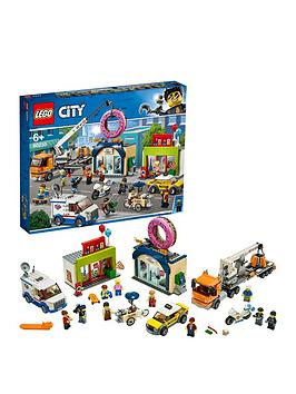 LEGO City  Lego City 60233 Donut Shop Opening With Vehicles And 10 Minifigures
