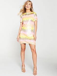v-by-very-stripe-sequin-tunic-dress-multi