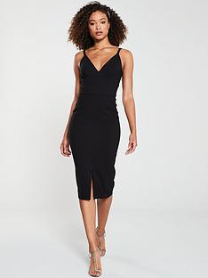 v-by-very-valentina-crepe-midi-dress-black