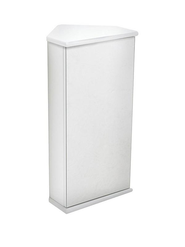 Lloyd Pascal Luna Hi Gloss Corner Bathroom Wall Cabinet White Littlewoods Com