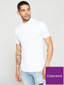river-island-white-essential-muscle-fit-polo-shirt