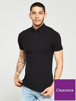 river-island-black-essential-muscle-fit-polo-shirt