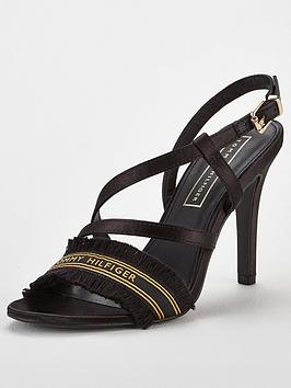 Tommy Hilfiger Tommy Hilfiger Satin Heeled Sandals - Black Picture