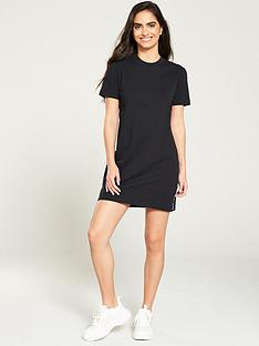 calvin-klein-jeans-tape-logo-t-shirt-dress-black