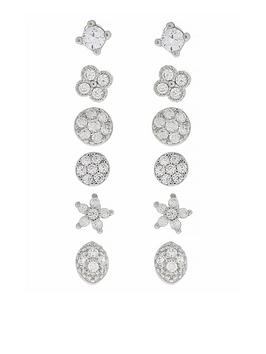 accessorize-pl-6x-sparkle-stud-earring-set-silver