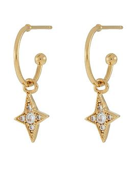 accessorize-pave-star-drop-hoops-gold