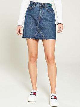 Tommy Jeans Tommy Jeans Short Denim Skirt - Mid Blue Picture