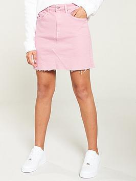 tommy-jeans-short-denim-skirt-pink
