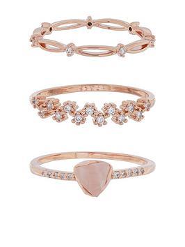 accessorize-3x-leena-semi-precious-stacking-ring-set-rose-gold