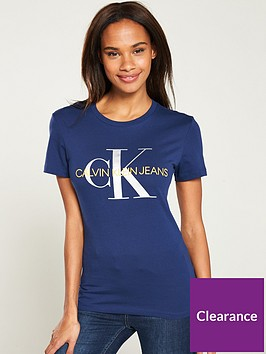 calvin-klein-jeans-metallic-monogram-slim-fit-t-shirt-bluesilver