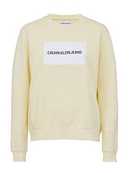 Calvin Klein Jeans Calvin Klein Jeans Institutional Box Logo Crew Neck  ... Picture