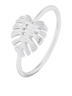 accessorize-st-monstera-leaf-ring-silver