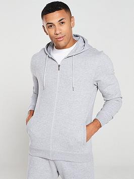 V by Very V By Very Zip Through Hoodie - Grey Marl Picture