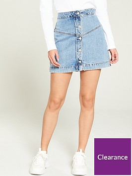 calvin-klein-jeans-button-front-denim-skirt-blue