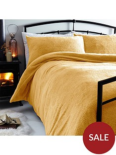 silentnight-teddy-fleece-duvet-cover-set-ochre
