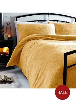 silentnight-teddy-fleece-duvet-cover-set-ochre