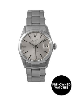 rolex-rolex-pre-owned-oyster-silver-date-dial-stainless-steel-bracelet-midsize-watch-ref-6466