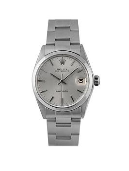 rolex-rolex-pre-owned-silver-oyster-date-dial-stainless-steel-bracelet-midsize-watch-ref-6466