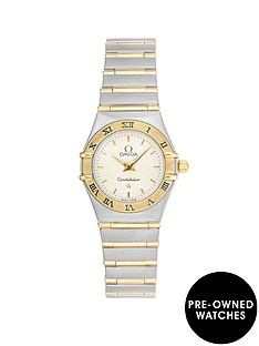 omega-omega-pre-owned-constellation-off-white-and-gold-detail-date-dial-two-tone-stainless-steel-bracelet-ladies-watch