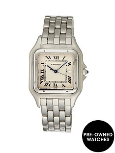 cartier-cartier-pre-owned-jumbo-panthere-white-dial-stainless-steel-bracelet-mens-watch