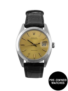 rolex-rolex-pre-owned-champagne-oyster-date-dial-stainless-steel-bracelet-mens-watch-ref-6694