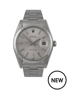 rolex-rolex-pre-owned-silver-oyster-date-dial-stainless-steel-bracelet-mens-watch-ref-6694
