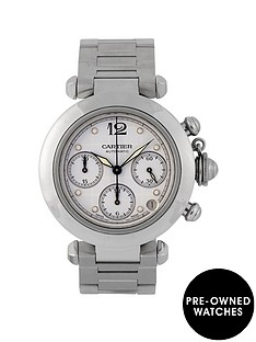 cartier-cartier-pre-owned-pasha-white-chronograph-dial-stainless-steel-bracelet-mens-watch-ref-2412