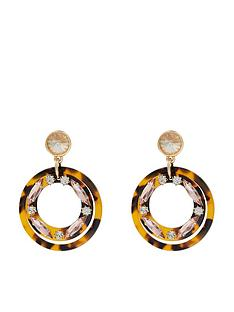 accessorize-jewelled-tortoiseshell-ring-resin-earrings-brown
