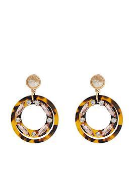 accessorize-jewelled-tortoiseshell-ring-resin-earrings-brown